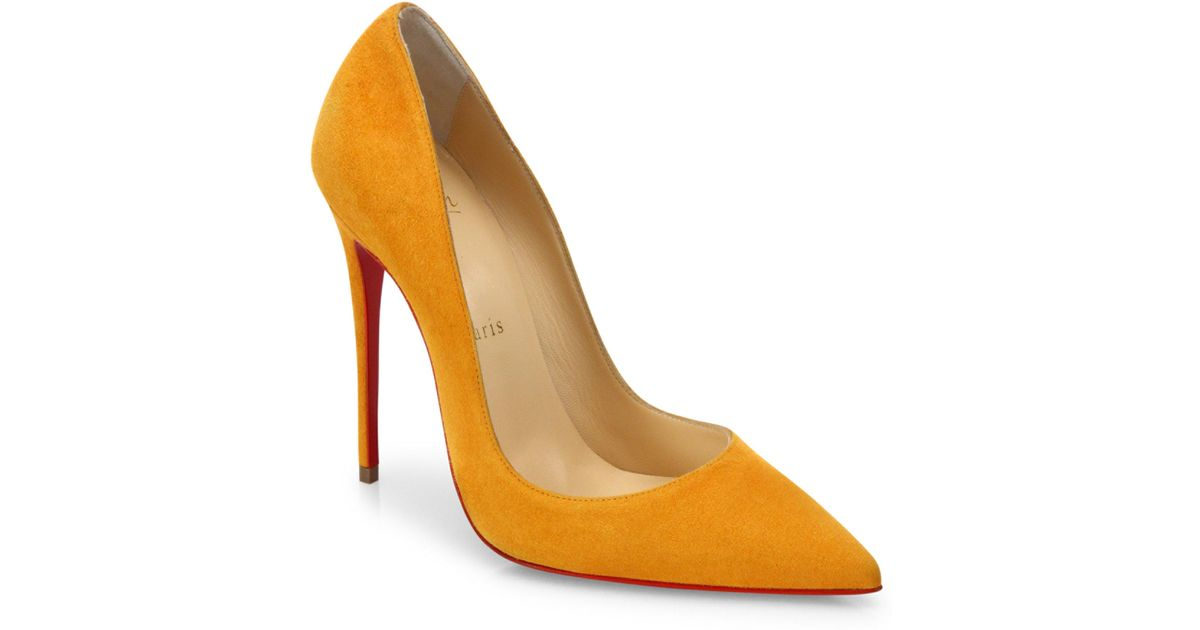 44cc983f3508 Lyst - Christian Louboutin So Kate Suede 120mm Pumps in Yellow