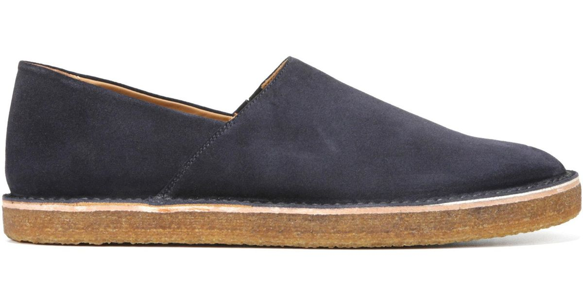 d89e8eda2f Lyst - Vince Gifford Suede Slip-on Shoes in Blue