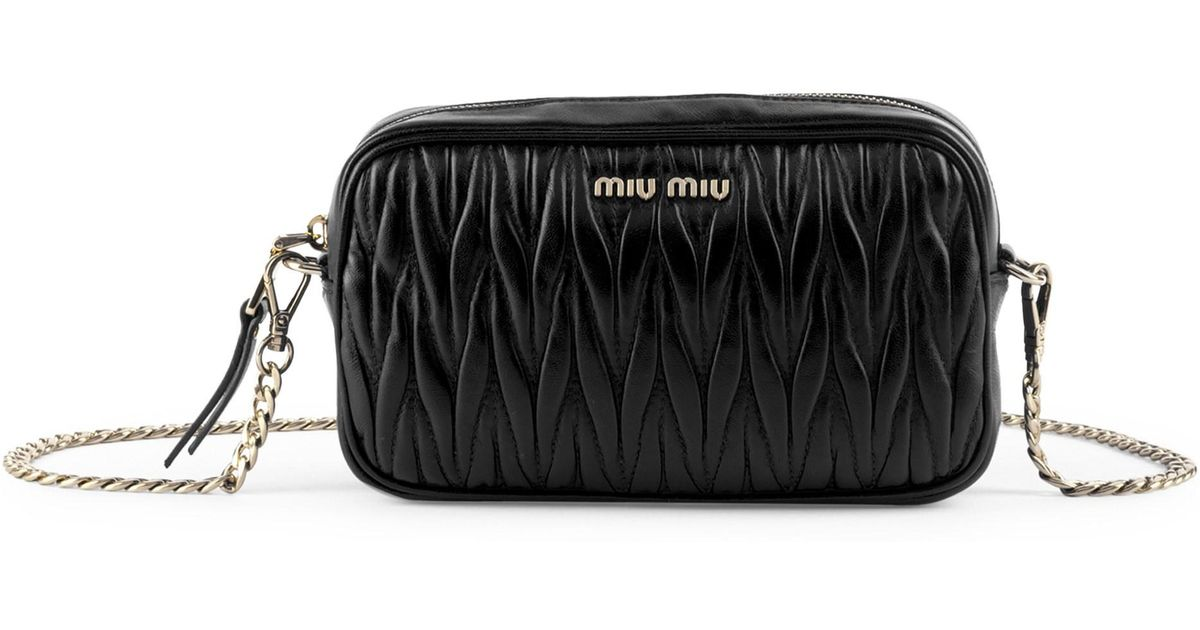 25dc96394b0b Miu Miu Metallic Matelassé Belt Bag. Gallery. Previously sold at  Farfetch  · Women s Miu Miu Matelasse .