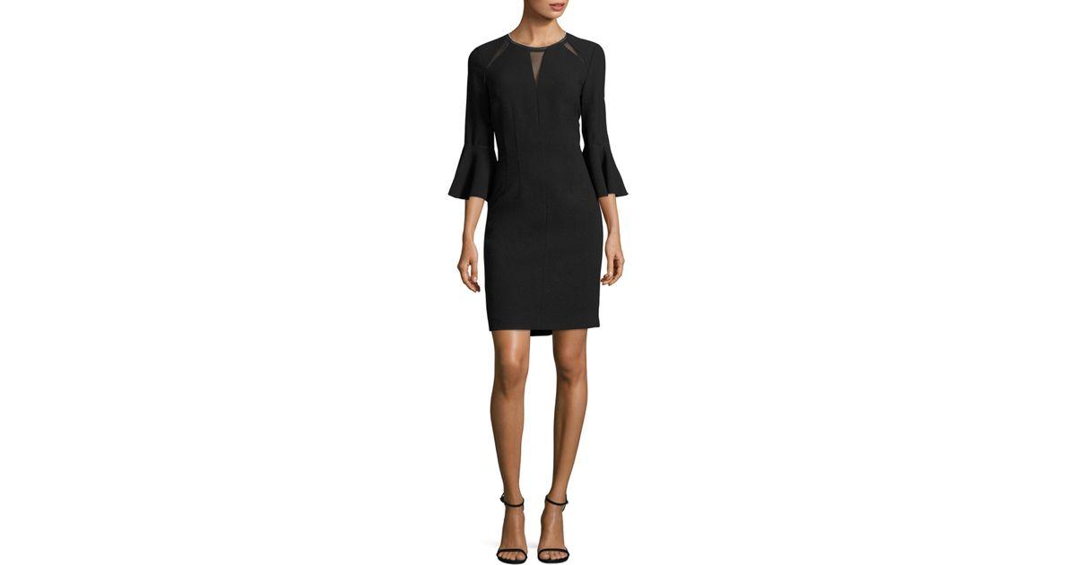 15a2660f2d Lyst - Elie Tahari Garcia Embellished Sheath Dress in Black