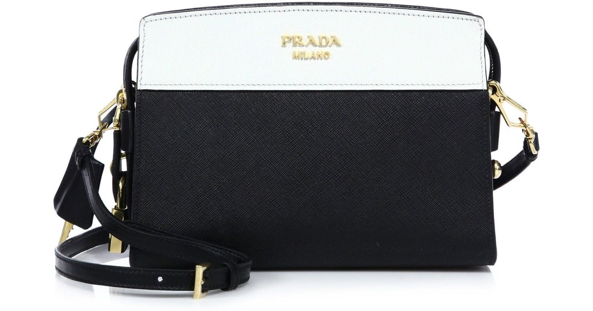 dfab2abdcde98 Prada Esplanade Leather Shoulder Bag in White - Lyst