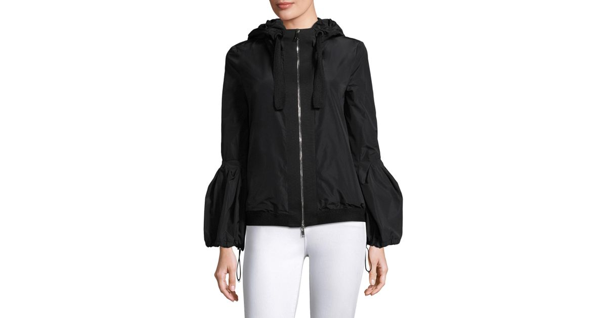 Moncler Lace Fume Giubbotto Jacket in Black Lyst