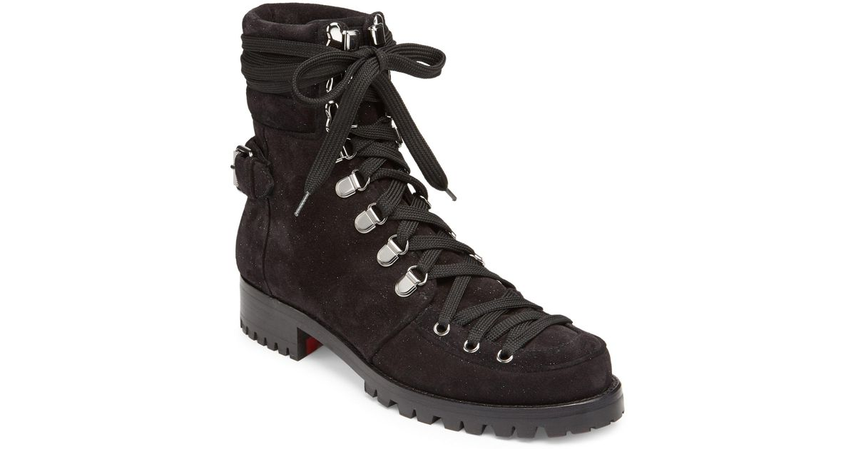 d0c4eddf7707 Lyst - Christian Louboutin Who Runs Suede Boots in Black