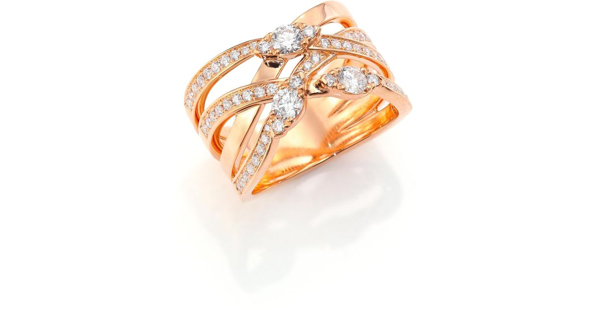 Lyst - Hearts On Fire Aerial Diamond & 18k Rose Gold Right Hand Ring ...