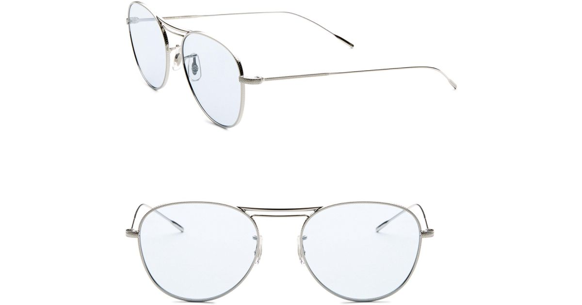 oliver peoples cade 52mm tinted aviator sunglasses in blue for men Oakley Radar Polarized oliver peoples cade 52mm tinted aviator sunglasses in blue for men lyst
