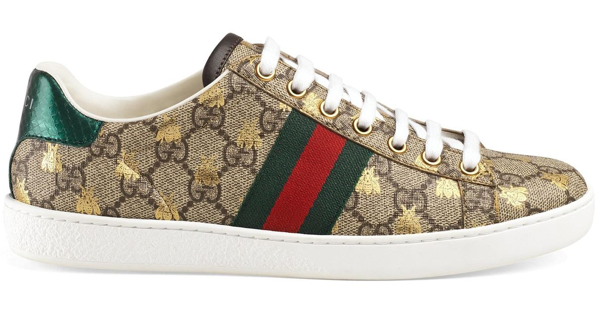 a89d50f97cd Gucci Ace Gg Supreme Trainers - Save 16% - Lyst