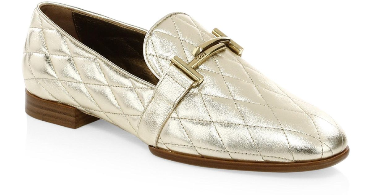 Tod's Quilted Leather Penny Loafer 3KUKo