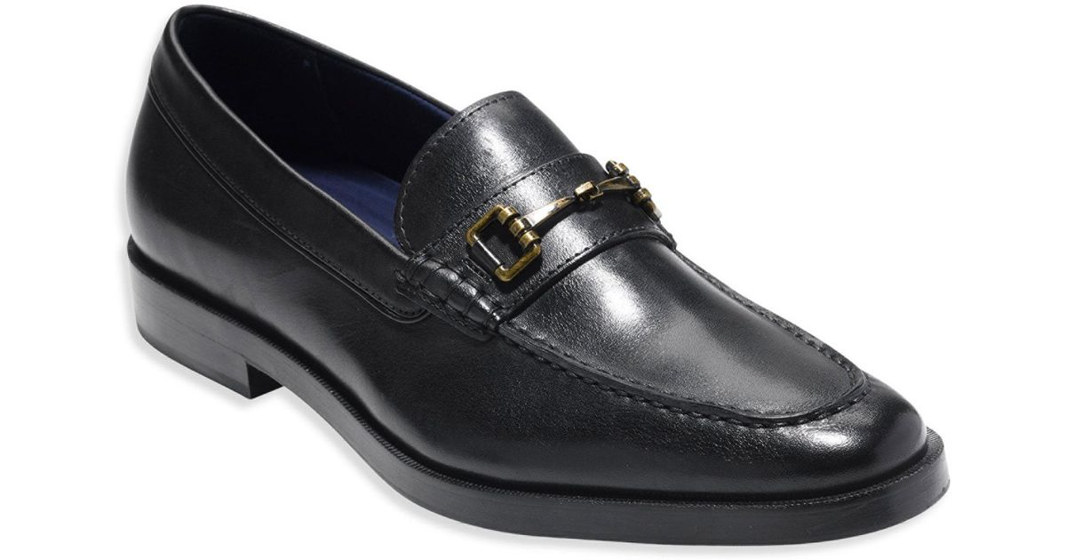 6d3b68cdf32 Cole Haan Dress Revolution Hamilton Grand Leather Bit Loafers in Black for  Men - Lyst