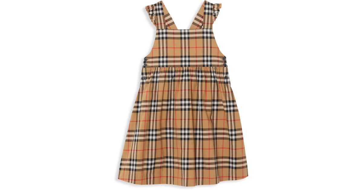 d1944f79da4 Lyst - Burberry Little Girl s   Girl s Livia Check Pinafore Dress