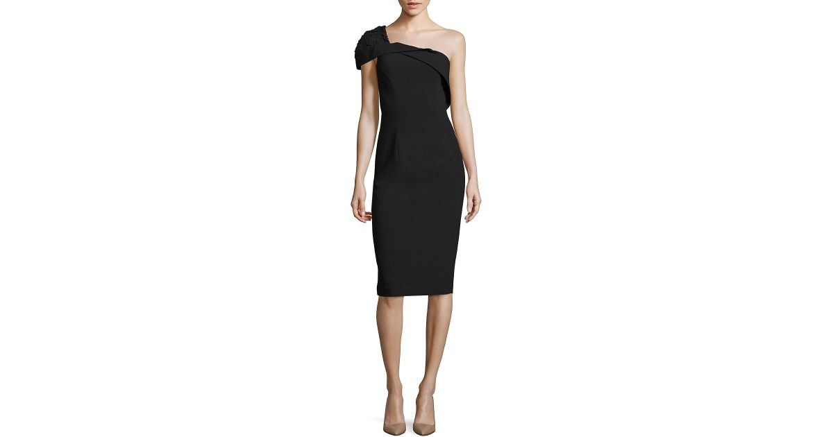 ea6dbf38f21 Black Halo Rochester One Shoulder Cocktail Dress in Black - Lyst