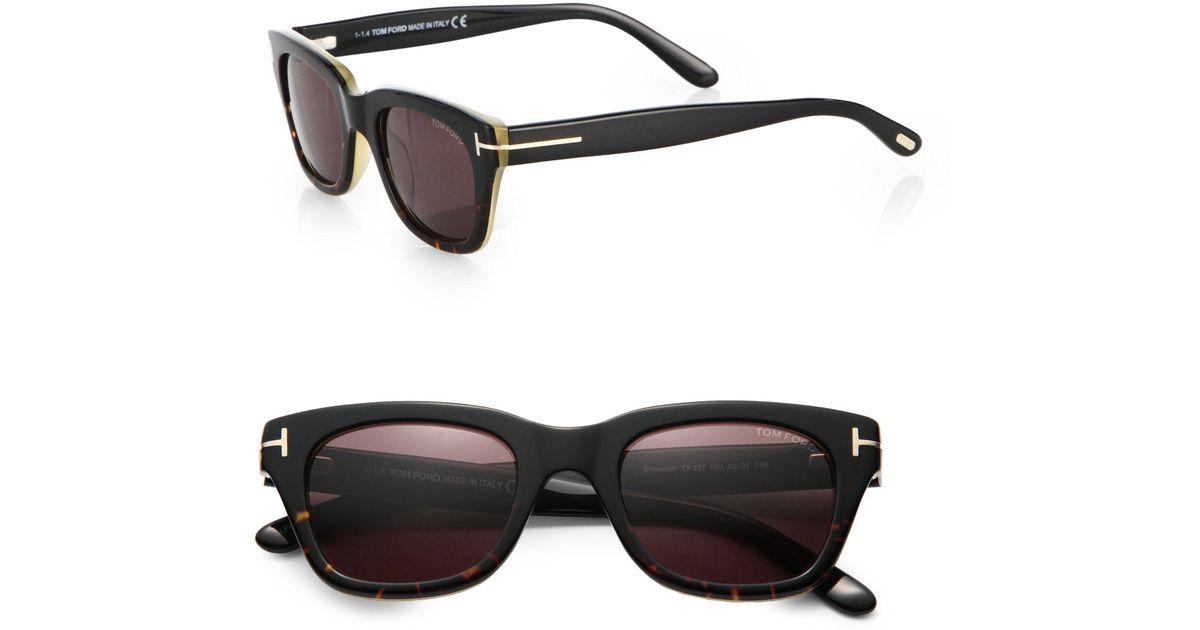 602b3a75f49d Lyst - Tom Ford Snowdon Acetate Sunglasses in Black for Men
