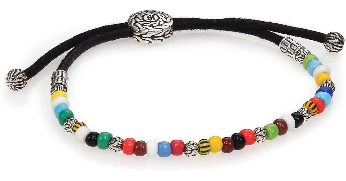 Lyst John Hardy Batu Clic Chain Sterling Silver African Bead Bracelet