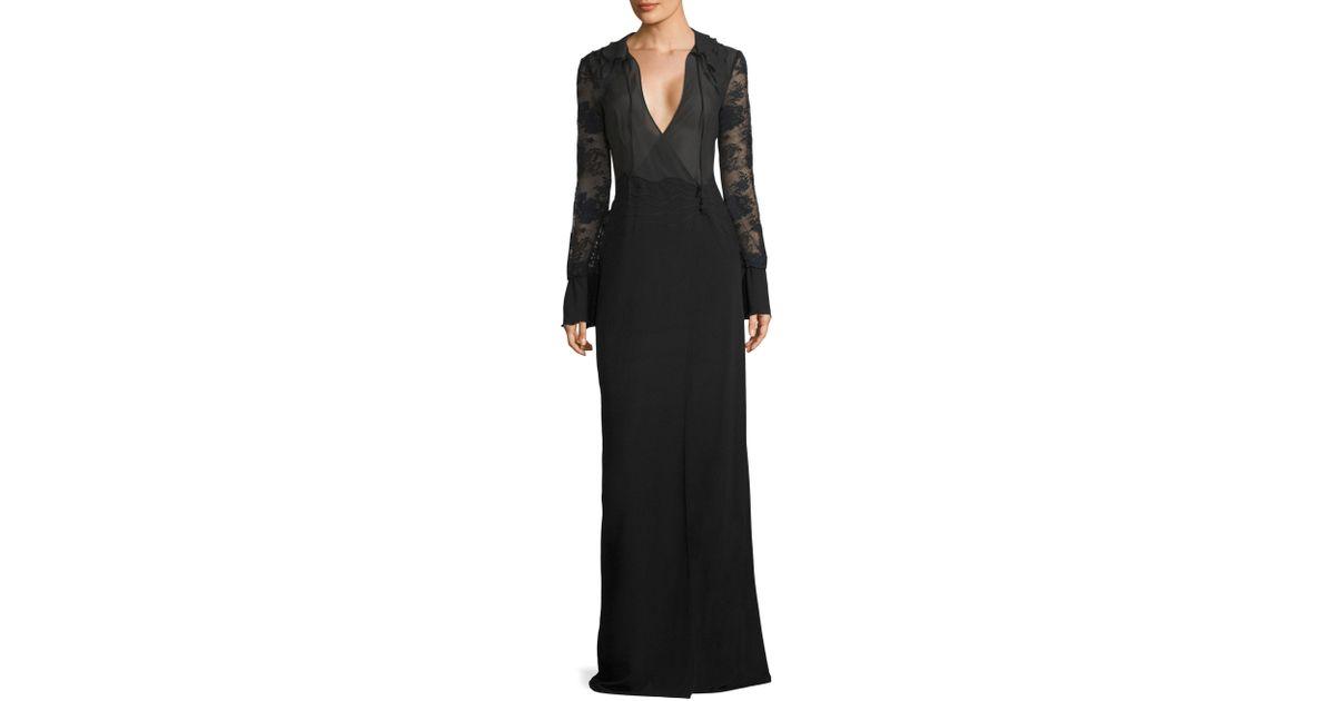 Lyst - La perla Desert Rose Nightgown in Black