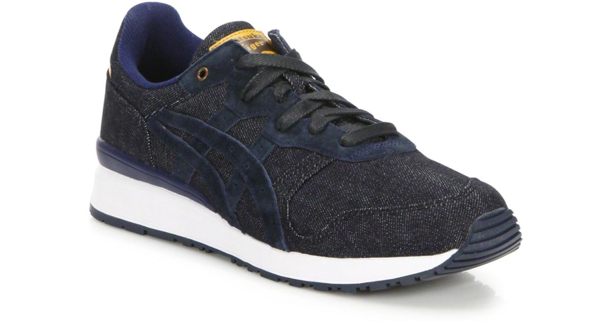 71321a757f07 Onitsuka Tiger Tiger Alliance Denim Sneakers in Blue for Men - Lyst