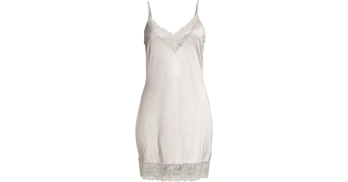 6b5474c61ec Lyst - Hanro Women s Jolina Lace Chemise - Ceramic - Size Large in White
