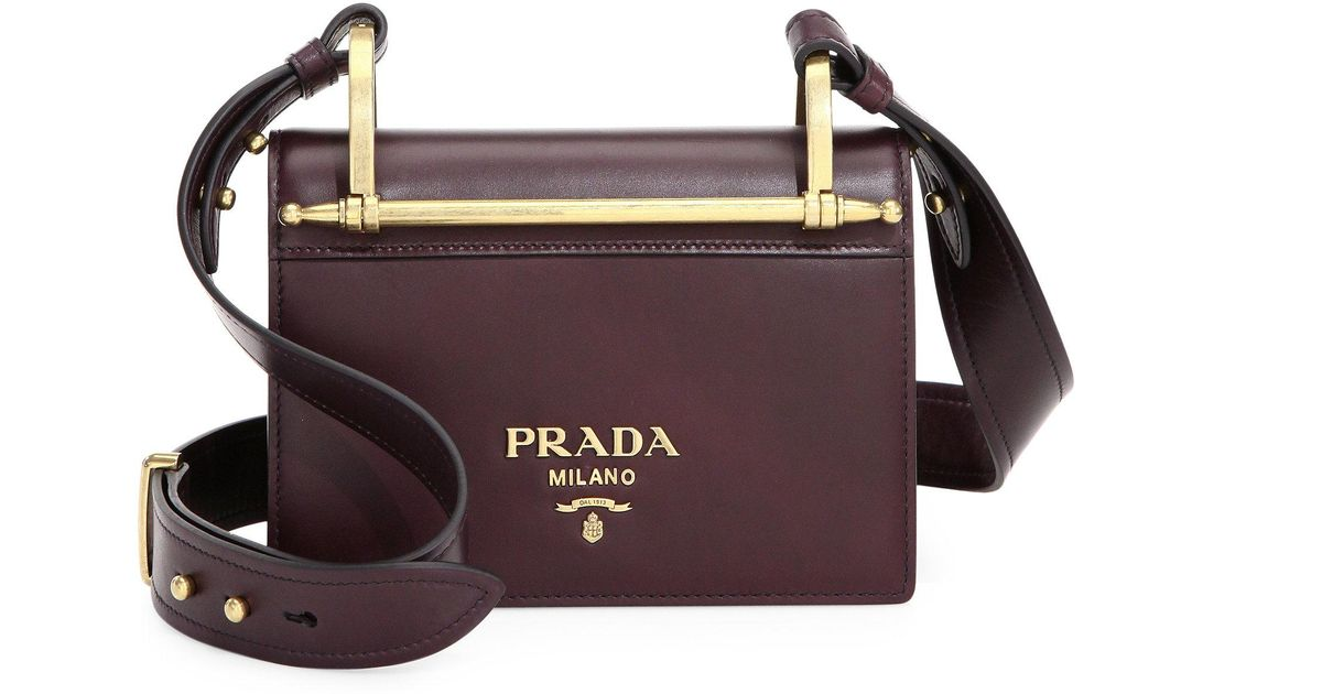 c144b628fa0768 Prada Pattina Leather Shoulder Bag in Purple - Lyst