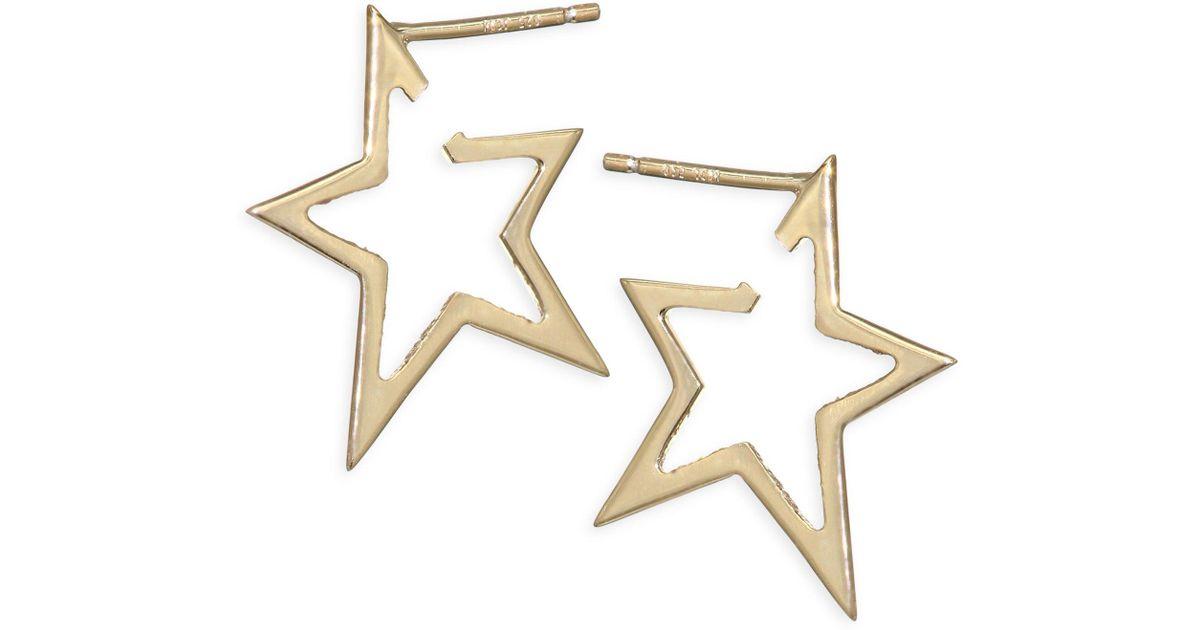 Lyst Jennifer Zeuner Sade Small Star Earrings In Metallic
