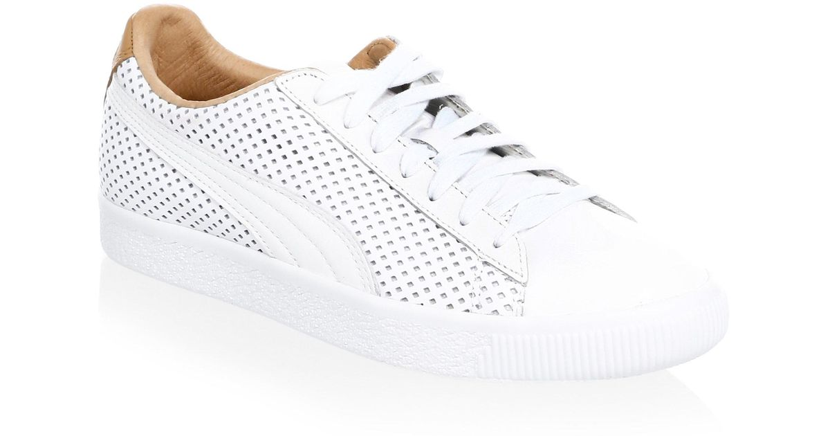 Puma Clyde Colorblock Leather Sneakers vhlFWZkRod