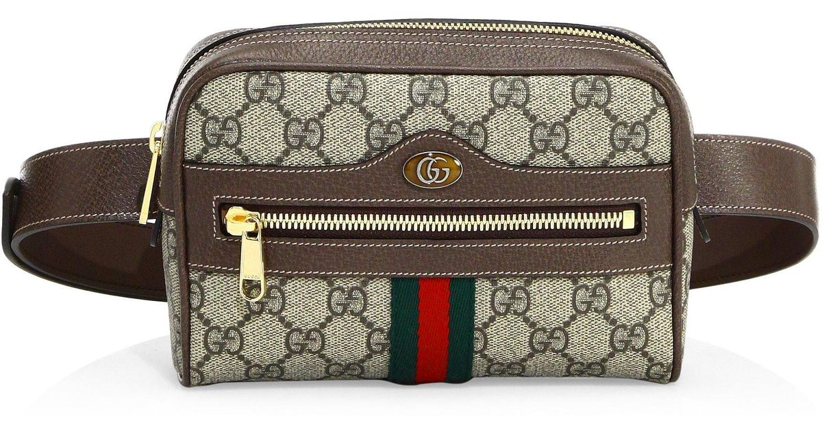 4ed9d22b2 Gucci Ophidia Gg Small Supreme Belt Bag in Brown - Lyst