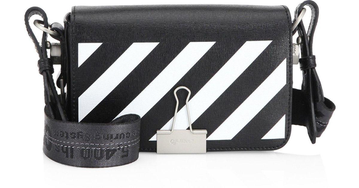 051884f60 Off-White c/o Virgil Abloh Mini Leather Crossbody Bag in Black - Lyst
