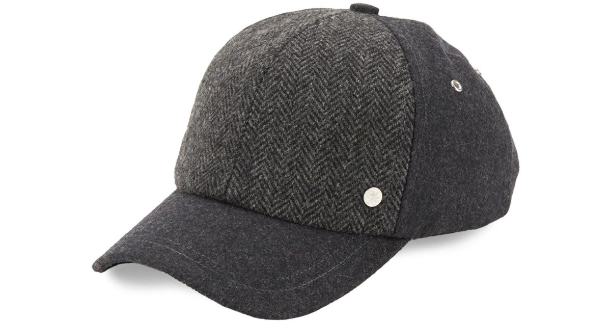 59490f4a2b8 Lyst - Paul Smith Textured Wool Baseball Hat in Gray for Men
