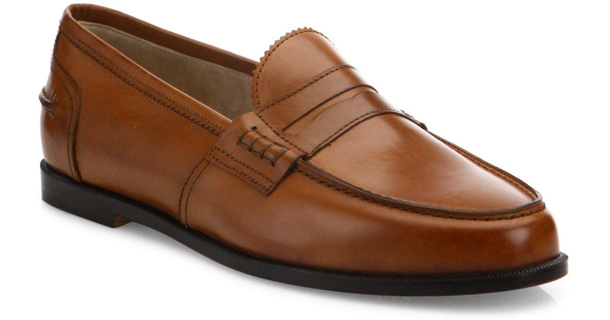 395dc19bc14 Lyst - Manolo Blahnik Ellen Leather Loafers in Brown for Men