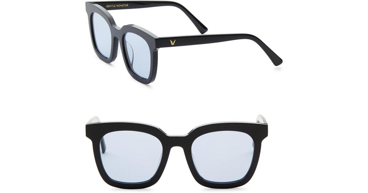 8fddd98dc5f6 Lyst - Gentle Monster Finn 50mm Retro Square Sunglasses in Black