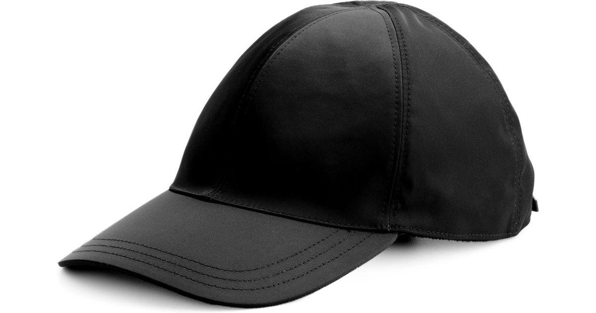 Lyst - Prada Nylon Baseball Cap in Black for Men d53adea176b