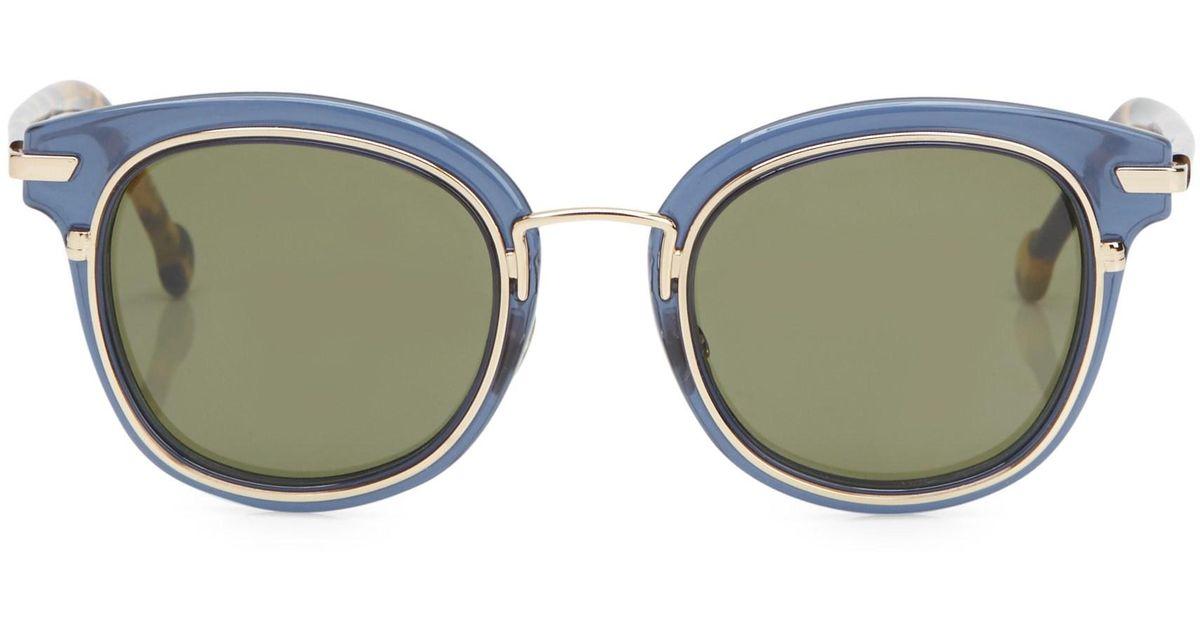 4c0af67ad48 Lyst - Dior Origins 2 48mm Square Sunglasses in Blue