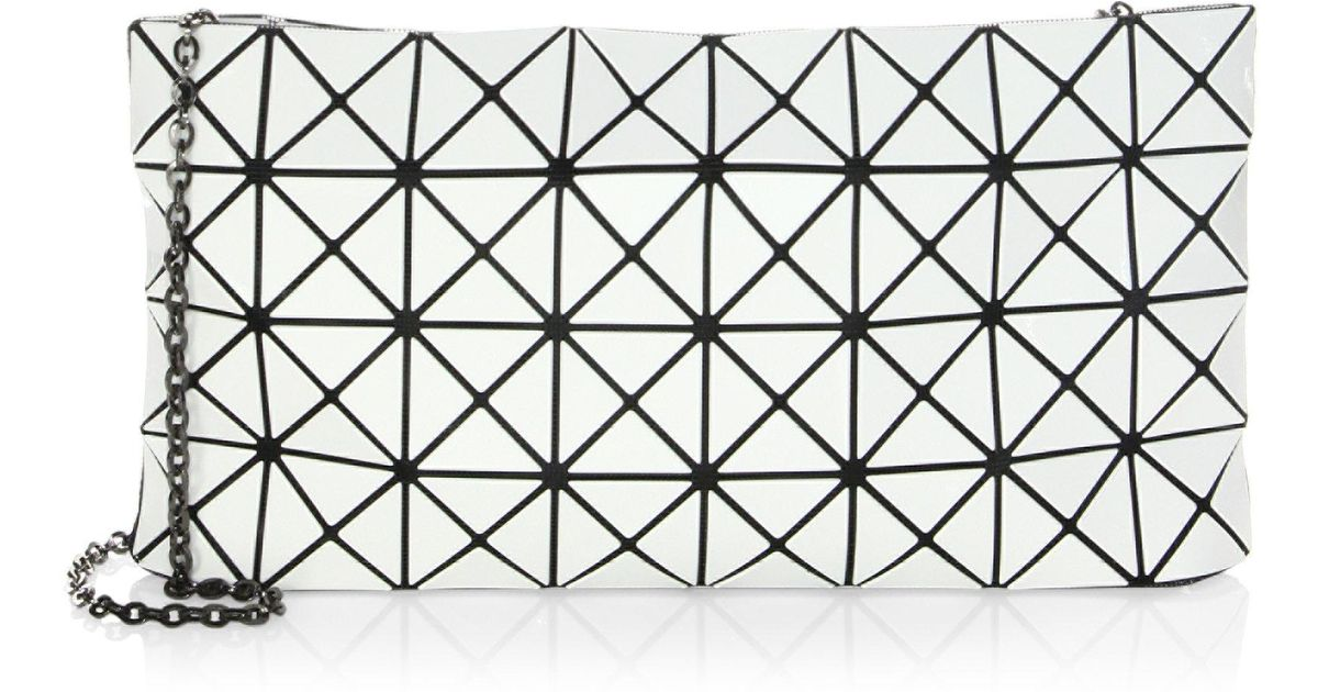 0d98be5621 Lyst - Bao Bao Issey Miyake Prism Chain Clutch in White
