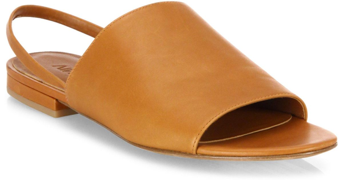 5bbef0ceac3 Lyst - Vince Dawson Leather Flat Slingback Slides in Brown