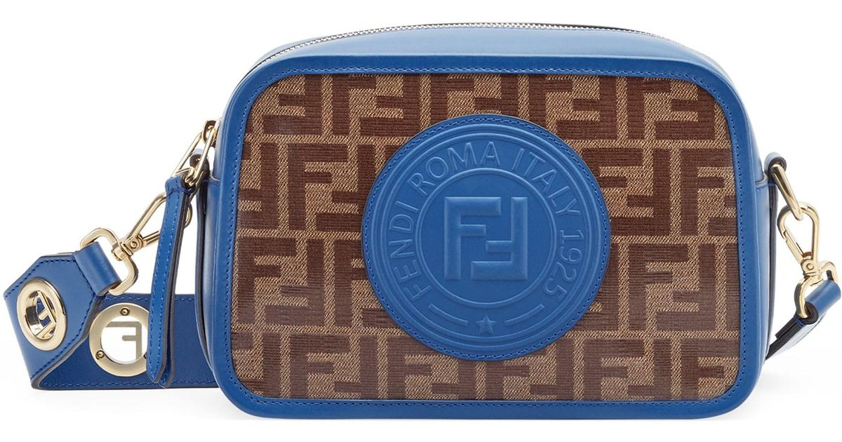 abb29497d25 Lyst - Fendi Women s Large Ff Camera Bag - Blue Multi in Blue