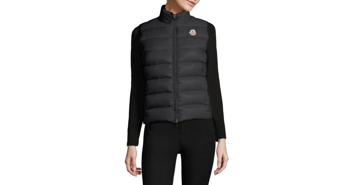 3d6e6bf10 Lyst - Moncler Ghany Puffer Vest in Black