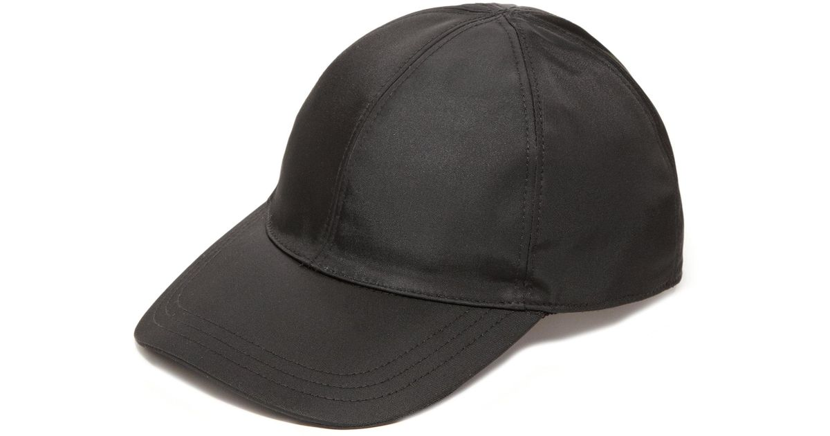 b43406ef84b Lyst - Prada Nylon Baseball Cap in Black for Men - Save 30%