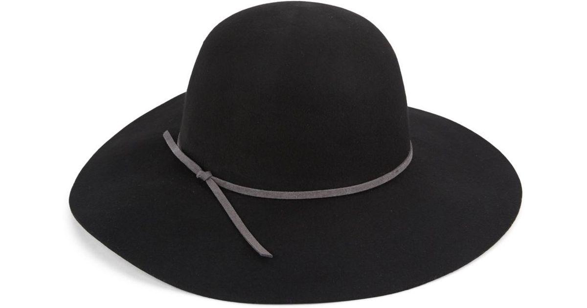 san diego hat company wool bowler hat in black lyst