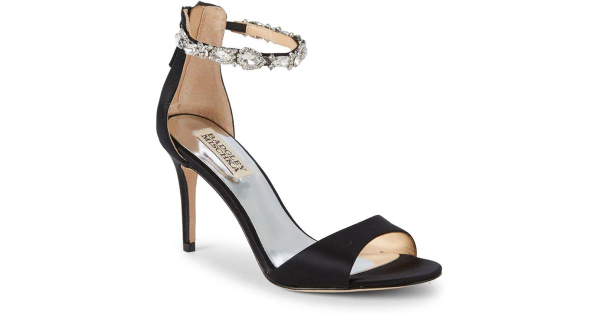c53837752dd Badgley Mischka Sindy Bejeweled D orsay Sandals in Black - Lyst