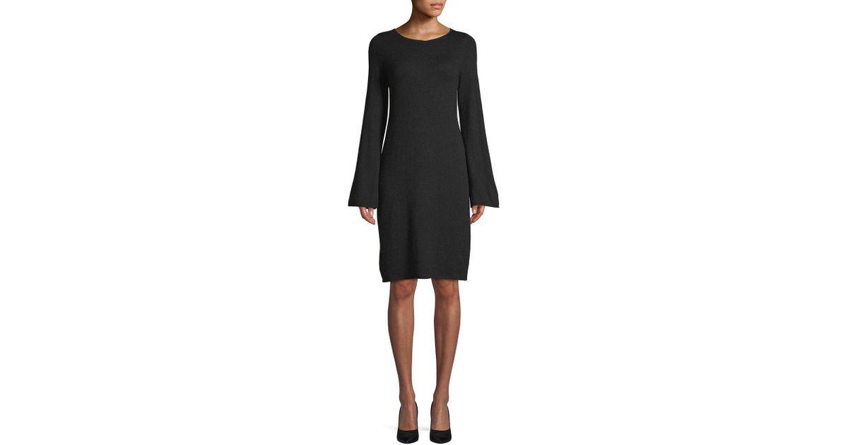221036fac16670 Lyst - Saks Fifth Avenue Bell-sleeve Sweater Dress in Black