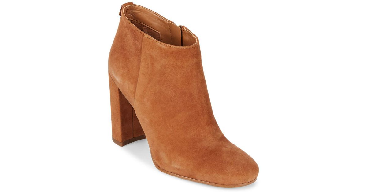 e714f9e5d06d1 Lyst - Sam Edelman Cambell Leather Booties in Brown