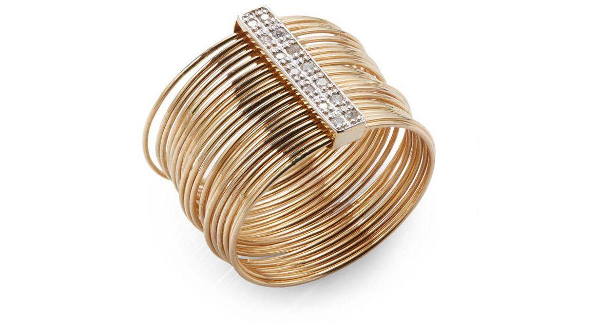 Lyst - Kacey K Fine Jewelry Diamond & 14k Gold Wire Ring in ...