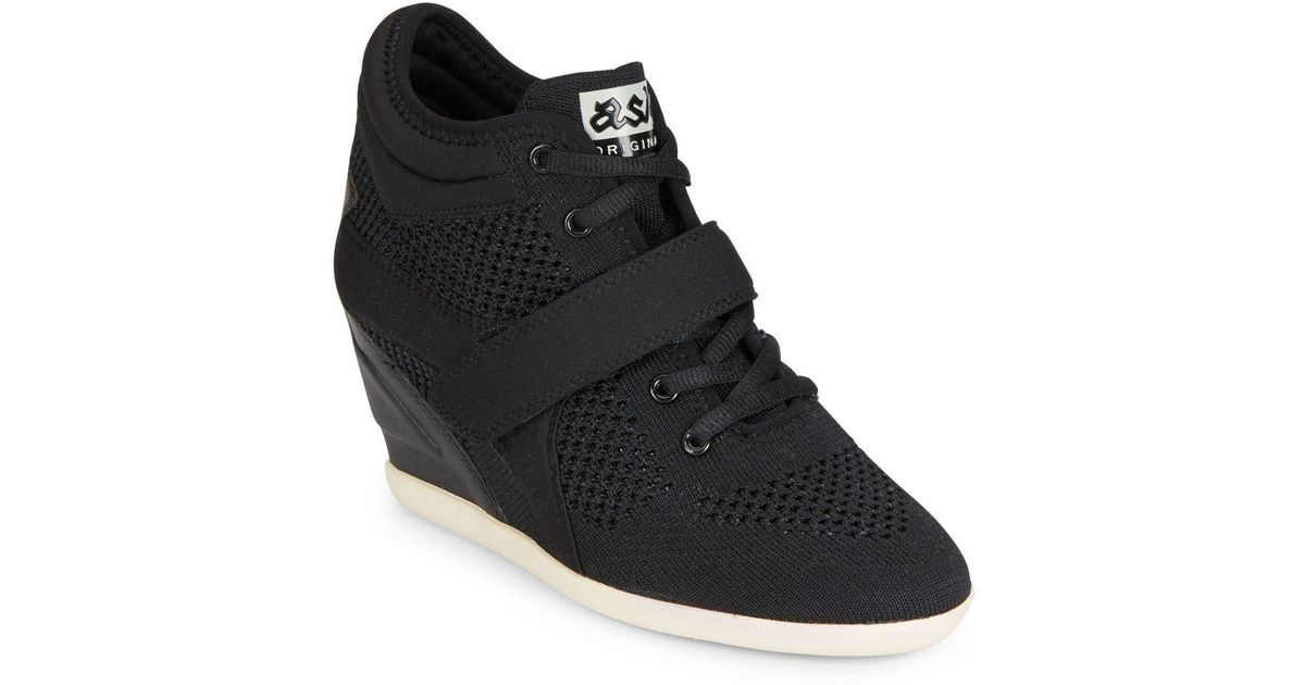 c4ed8189001b Lyst - Ash Bebop Wedge Sneakers in Black