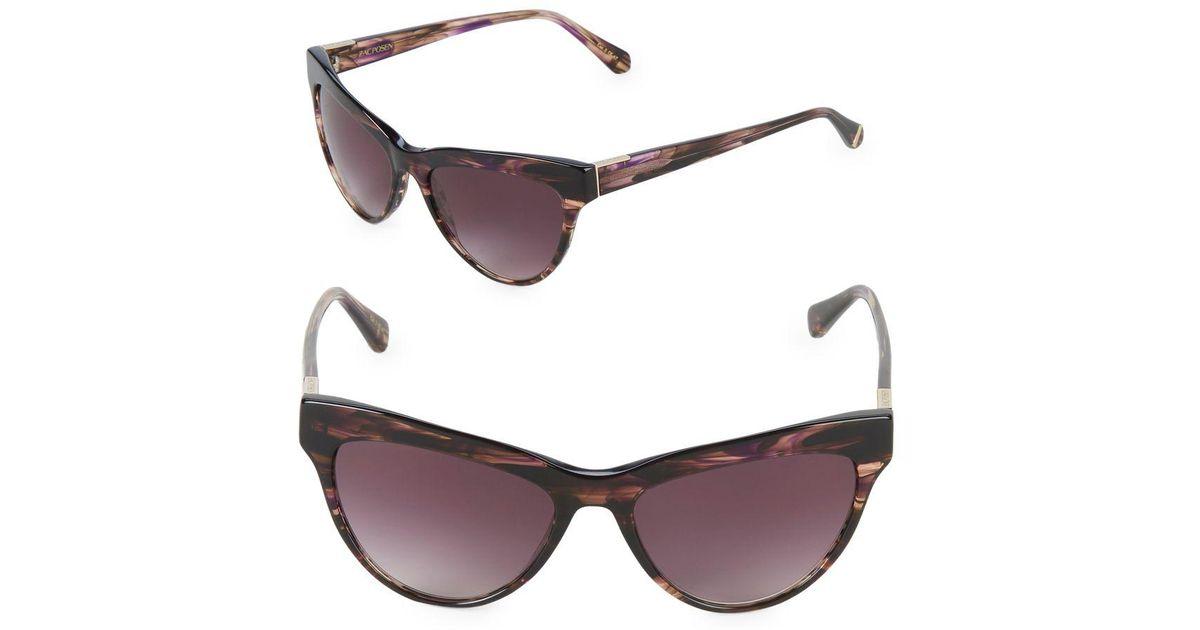 a2f863b6ce2 Lyst - Zac Posen Farrow 55mm Square Sunglasses in Brown