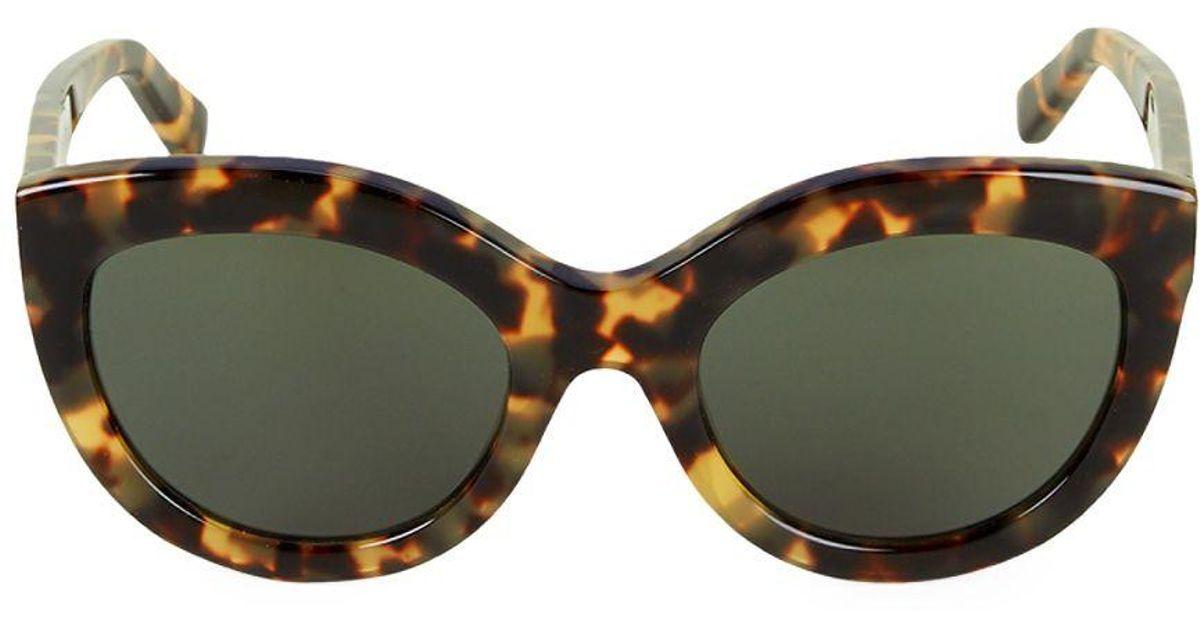7ad796f41f00 Balenciaga 54mm Cat Eye Sunglasses in Brown - Lyst