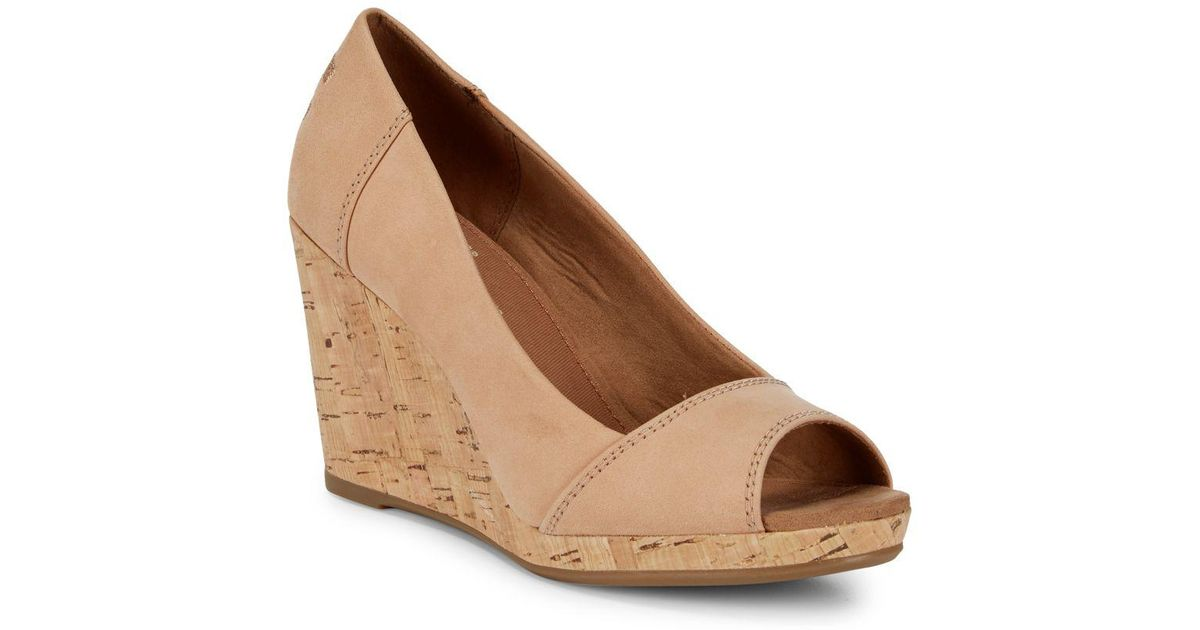 ffc503bb01a Lyst - TOMS Stella Wedge Sandals in Natural