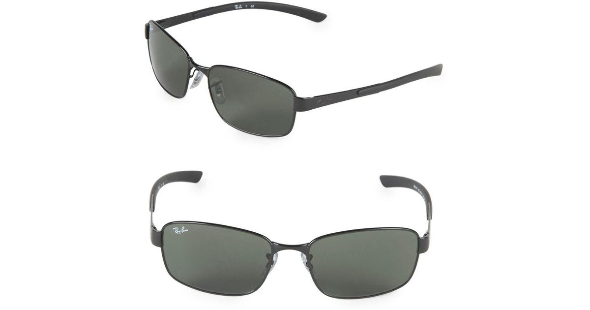 b8efbee32b7d5 Ray-Ban 59mm Rectangle Sunglasses in Black for Men - Lyst