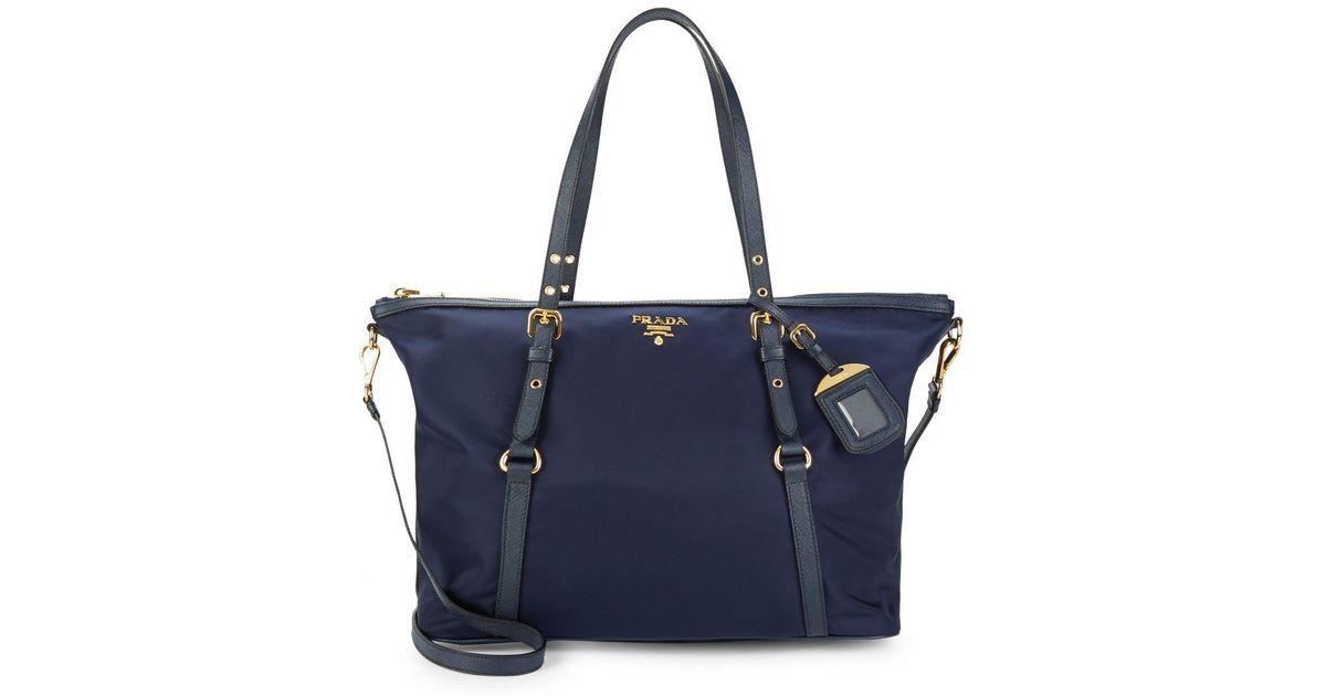 5bdd31307627 Lyst - Prada Classic Tote in Blue