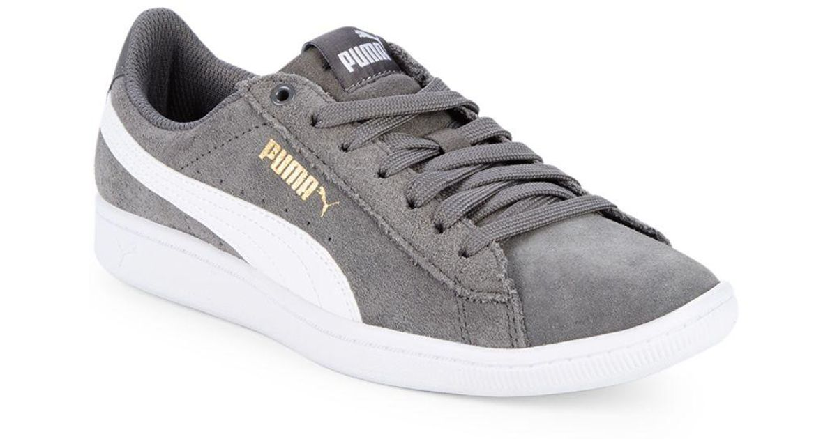 63b0abbcb41 Lyst - PUMA Vikky Suede Low-top Sneakers in Gray for Men