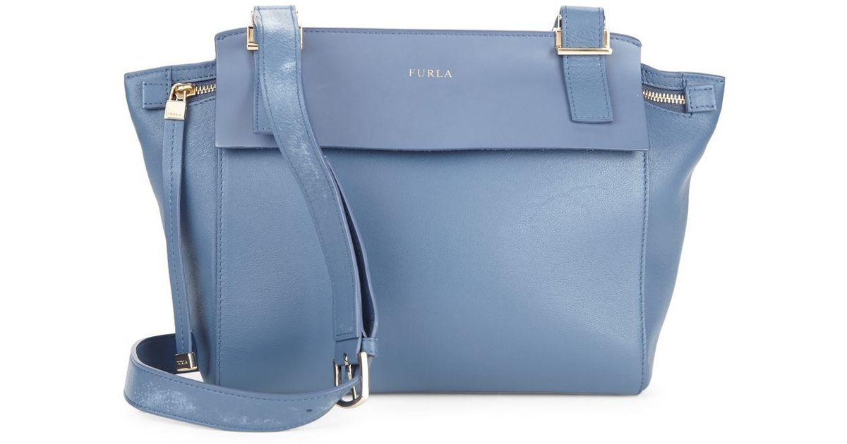 Vita Blue Bag Lyst Dolce Furla Leather Crossbody JTl1KFc3