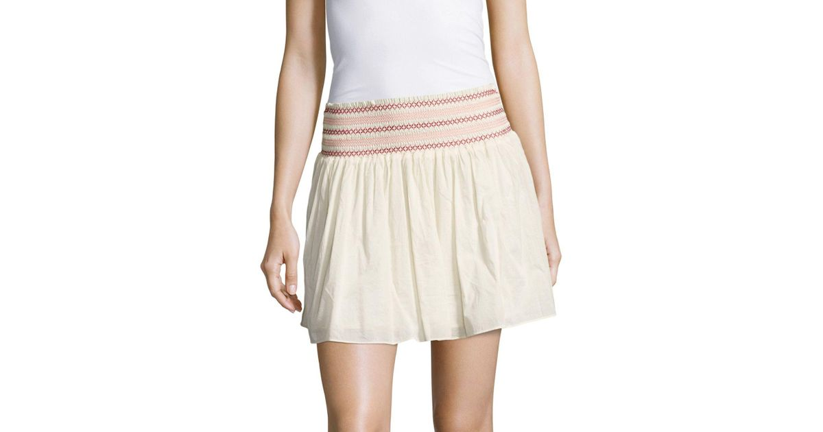 Discount Reliable Tiered Floral-print Cotton Mini Skirt - Cream LoveShackFancy Sale Fast Delivery Free Shipping Release Dates 0mpfLuhT2l