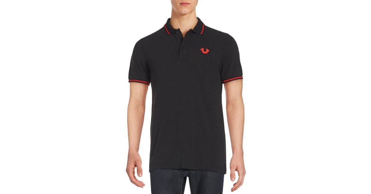 22b373e2c True Religion Signature Print Polo Shirt in Black for Men - Save 26% - Lyst