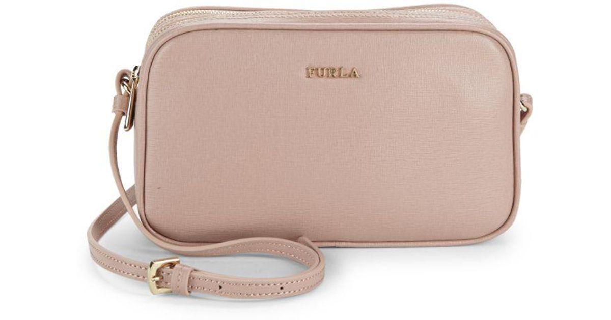 07875a0810d6 Lyst Furla Lilli Leather Crossbody Bag. Lyst Furla Metropolis Dolomia Leather  Mini ...